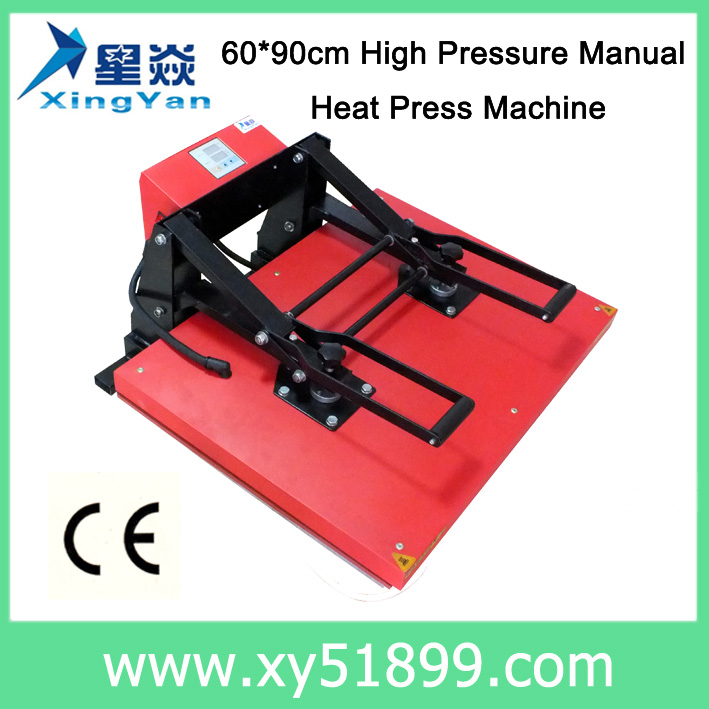 60*90CM Manual high pressure flatbed heat press <strong>machine</strong> on sale