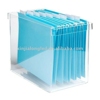 Acrylic Desktop File Organizer Or Acrylic Magazine Holder