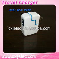 4 port portable usb travel charger/universal travel charger for europe