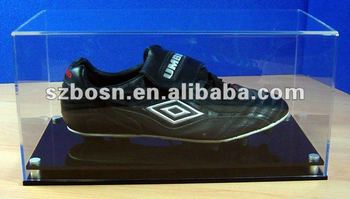 Acrylic Footwear Box, Acrylic Shoe Case, Acrylic Football Boot Display Case