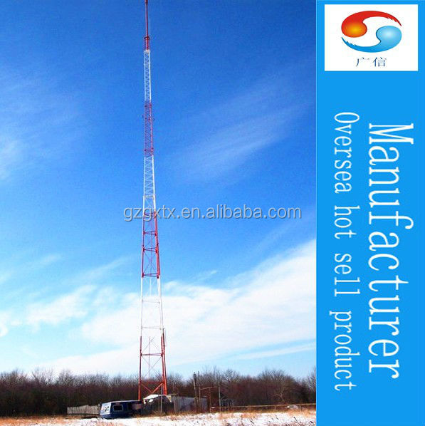 Three legged Angle Steel Galvanized Lattice Tower self-supporting tower triangular transmission line angle steel tower