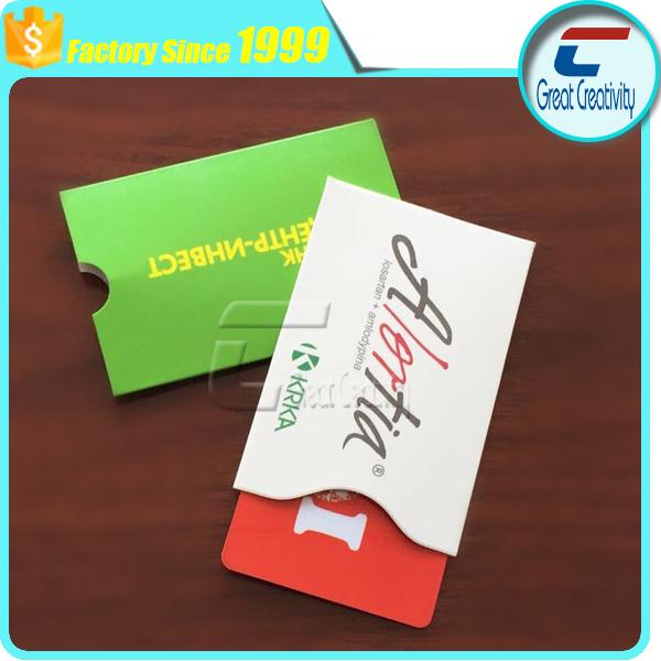 Low price rfid block credit card id business card sleeve for Rfid business cards