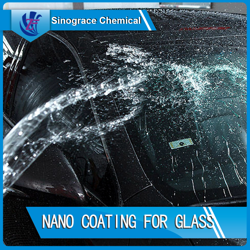 Water repellent durable glass coating for paint protection