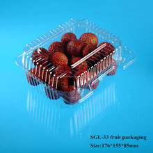 disposable transparent plastic fruit container