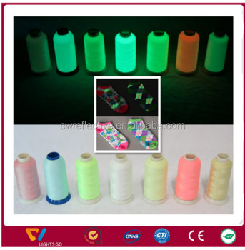 glow in the dark 100% polyester reflective sewing thread film yarn for knitting