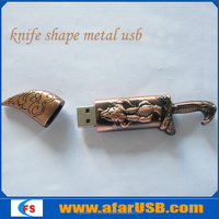 Unique Custom metal knife shape usb flash drive 2gb 4gb 8gb 16gb 32gb 64gb