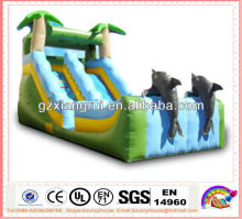 Excellent Design inflatable slide with Dolphin cartoon