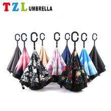 2017 Hot New Products Full Body Reverse Umbrella For Sale With C Handle