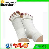 50 Pairs/Lot Five Toe Socks Fingers Toe Separator Foot Alignment Pain Relief Woman Massage Socks 8 Colors for Choose