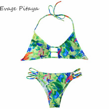 2017 New designs Europe Size factory price string cut out colorful japanese micro bikini