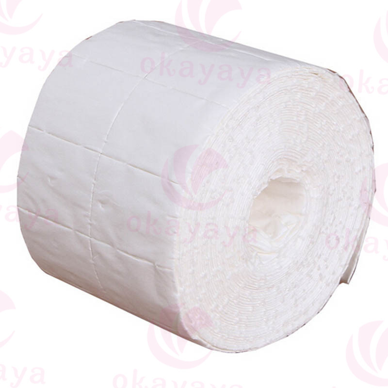 Wholesale disposable lint free medical salon manicure nail wipes 100% cotton pad roll