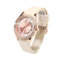 Fashion PU leather strap japan movement quartz wrist watch women