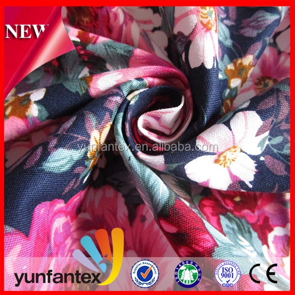2018 credible 100% cotton twill printed fabric with lowest price