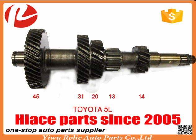 Toyota hiace gearbox parts 45-31-20-13-14 transmission shaft for hiace 5L