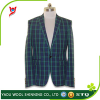 Custom men slim fit suits / check mens tailored suit / made to measure suits