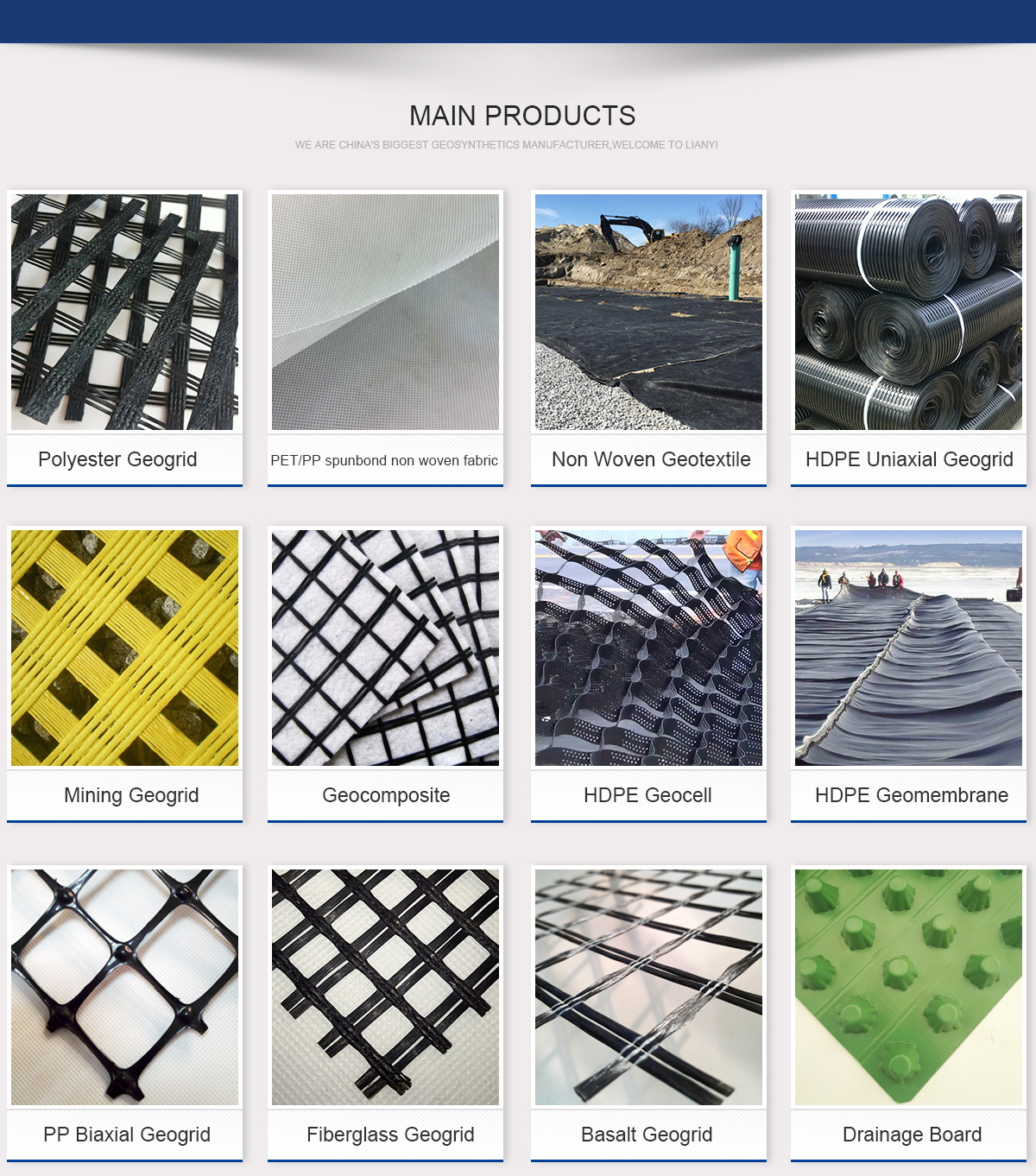 PVC coated biaxial polyester PET geogrid for retaining wall blocks