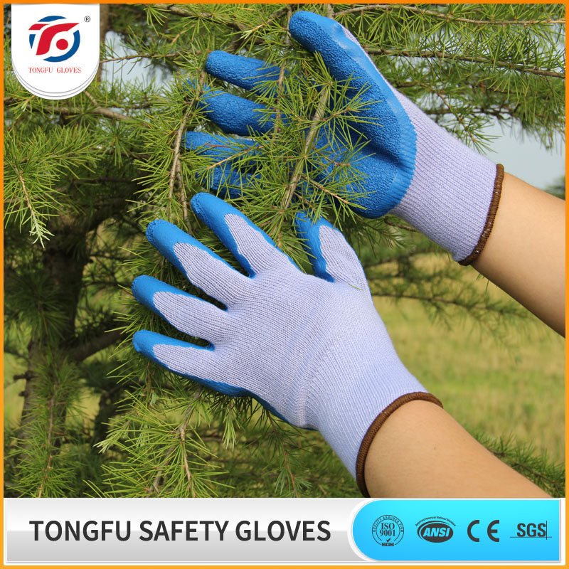 Wholesale safety latex coated work gloves rubber / 4343 safety gloves for labor work