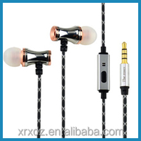 Microphone MP3 Stereo in-ear Stainless Steel Earphone Factory
