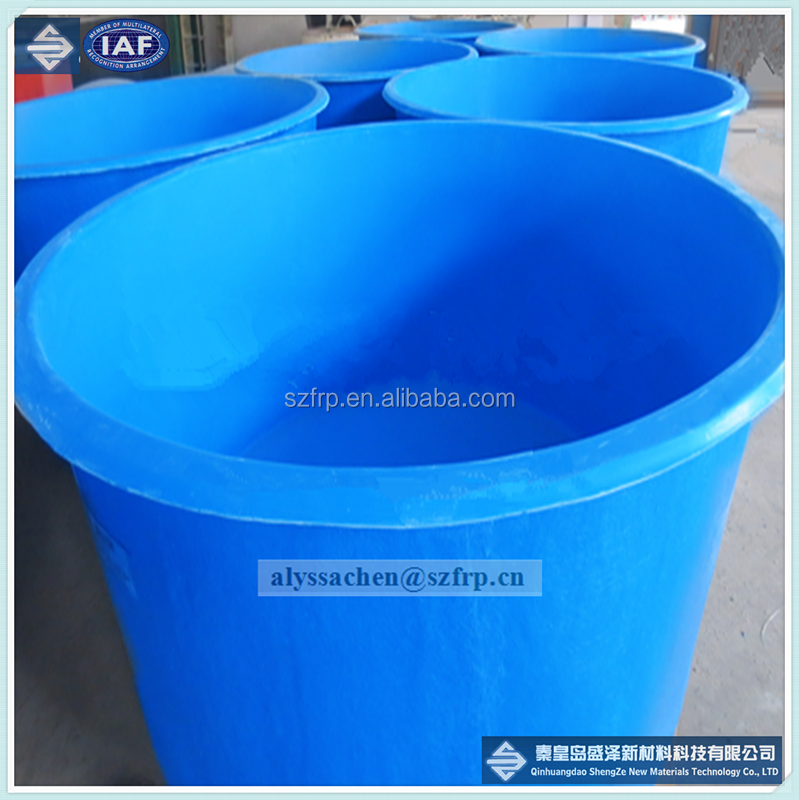 Big space FRP fish tank/environmental protection fiberglass aquaculture
