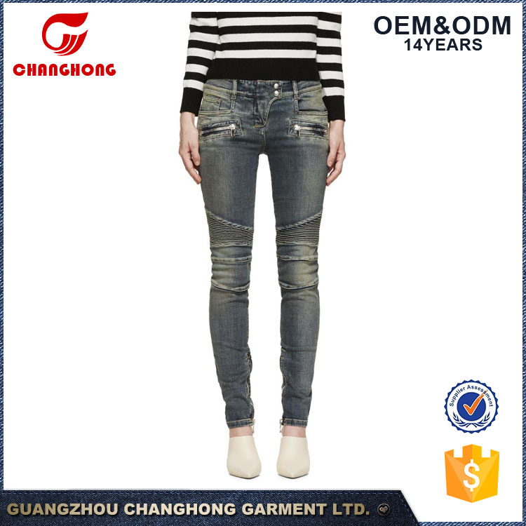 China jeans al por mayor xxx usa sexy ladies leggings sex photo women jeans with printing and washing