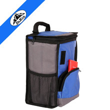 3 way zip open top flap lunch cooler soft bag with PEVA lining