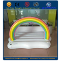 Inflatable rainbow cloud pool float