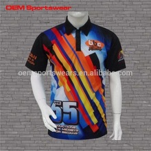 Fashion Polo Style Racing Crew Racing Motorcycle Jersey Uniform Auto Racing Sportswear