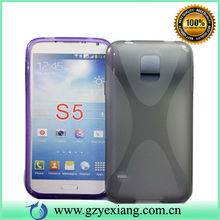 X Line TPU Case for Samsung S5 for Mobile Phone.Western for Samsung S5 TPU Cell Phone Case.