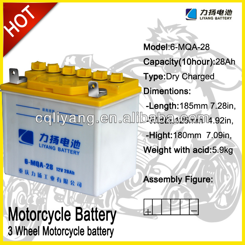 JIS standard Battery for electric battery operated three wheeler