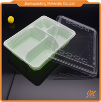 Clear plastic takeaway food disposable delivery containers