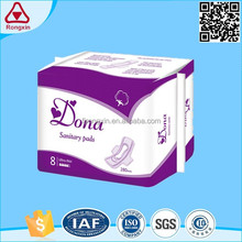 Free sample thick sanitary pad soft lady hygiene care menstrual pad