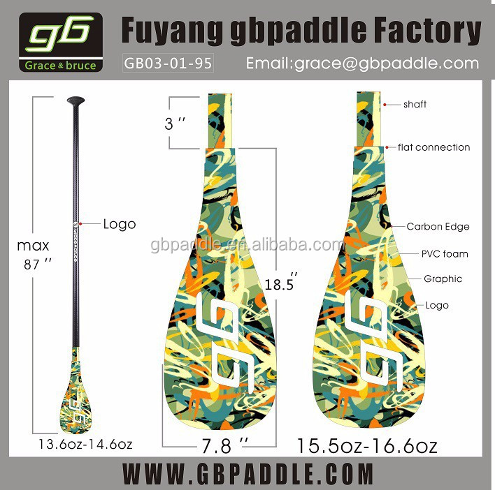 bamboo blade stand up paddle board paddle made in China