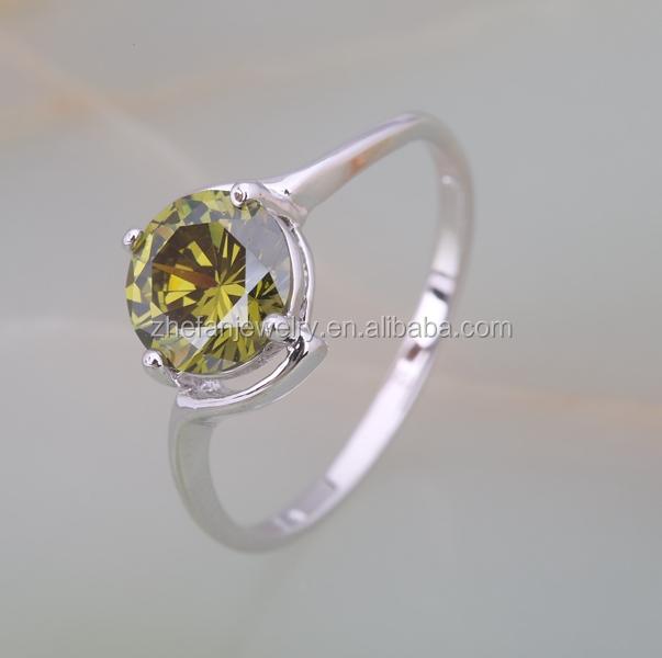 Unique brass jewelry design korean fashion mood ring colors
