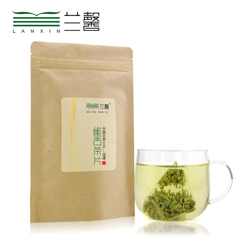 Queshe Green Tea Lanxin Bagged Small Pieces Green Tea
