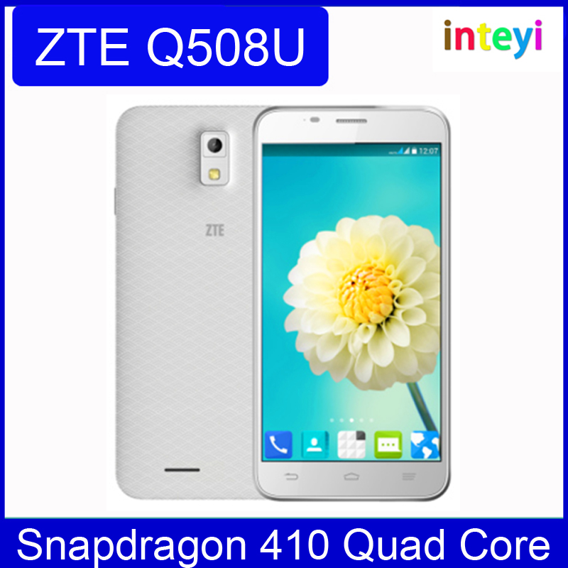 100% Original ZTE Q508U Mobile Phone android 4.4 Snapdragon 410 Quad Core 1.2Ghz 4GB ROM 5.5inch Dual SIM Multi language Russian