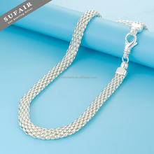 Professional solid curb solid sterling chain silver necklace patterns