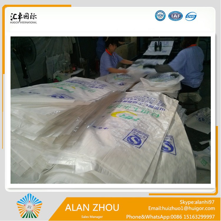 50kg pp bags for packing vegetable, fruit, flour, sugar