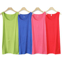 HOT COLORFUL TANK TOPS FOR WOMEN SOFT SINGLE LAYER GIRLS 100% COTTON