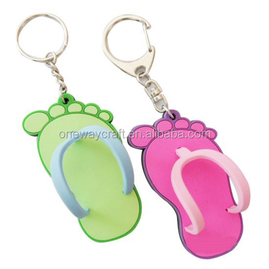 2D,3D customized soft PVC rubber keychain