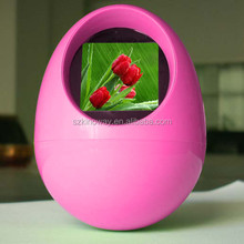 "1.5"" egg shaped digital photo frame for promotion with stock directly from factory"