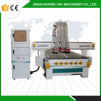 China jinan ATC New prduct pneumatic Three tool changer wood MDF PVC Plastic Acrylic matel manufacturing 4x8 ft cnc router