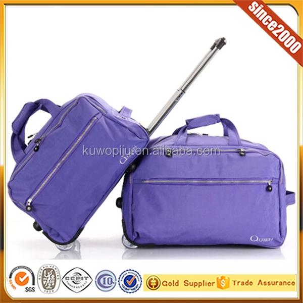 3 pcs set travel duffel trolley bag