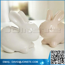 Ceramic pretty piggy bank white rabbit coin bank