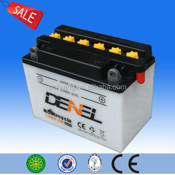 good price 12V4AH rechargeable motorcycle battery