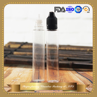 PET unicorn style e liquid bottle 30ml pen shape clear plastic e juice bottle