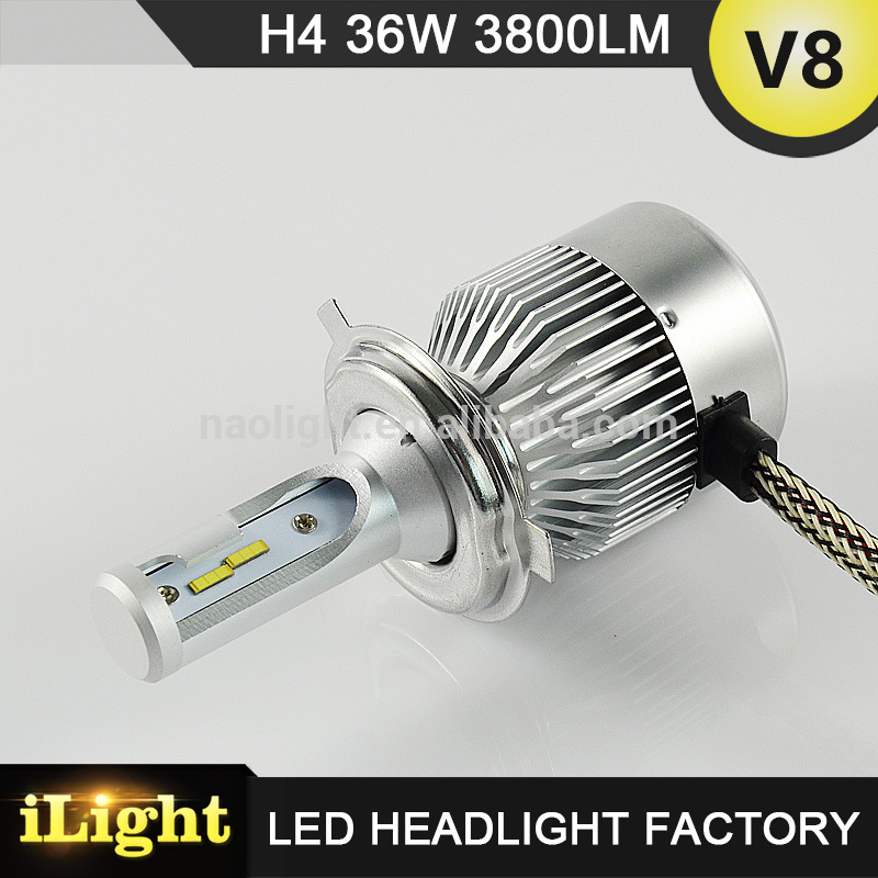 experienced manufacturer newest car led light led headlight h4 headlight tuning light with DOT,E-mark,CE,ISO9001