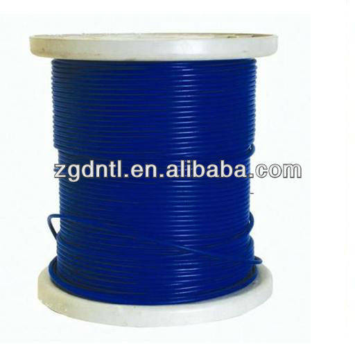 7x7 PVC coated Galvanized Steel Wire Rope With Dia:2mm,4mm,6mm,8mm,12mm,16mm