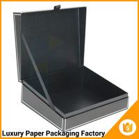 black custom book shaped cosmetic packaging uk