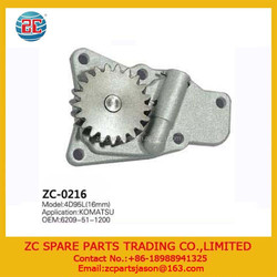 Engine Parts for 4D95L Oil Pump 6209-51-1200 16mm