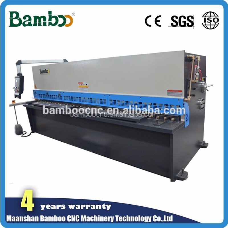 2500mm Bamboo Sheet Metal plates plasma cutter aluminium sheet swing shears machine
